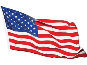 American Flag - Contact Page
